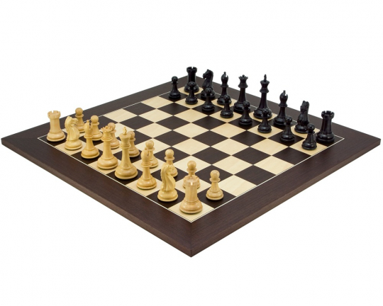 The Oxford Black and Wenge Chess Set