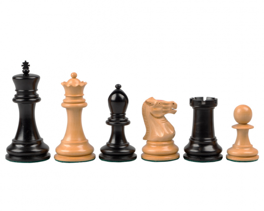 Reproduction Staunton Ebony Chessmen 1890 Model 3.5 inch