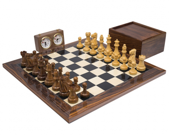 Broadbase Club Teak Palisander Staunton Chess Set
