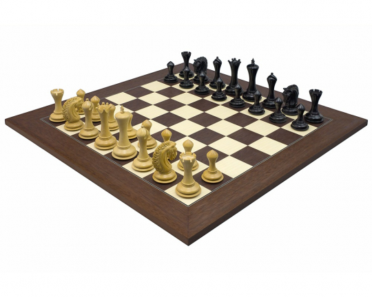 The Empire Knight Chess Set in Ebony and Palisander