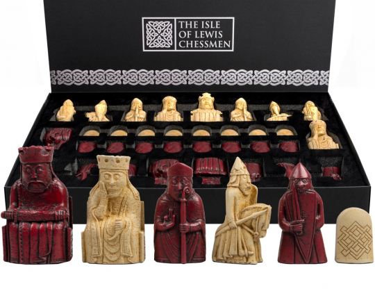 "Isle of Lewis 3.25"" Red Chessmen"