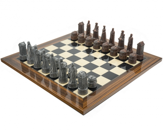 Scottish Berkeley Chess Metal and Palisander Chess Set