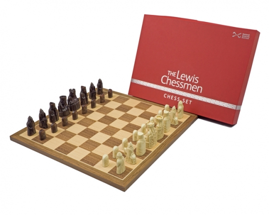 Official Lewis Walnut mid-sized chess set