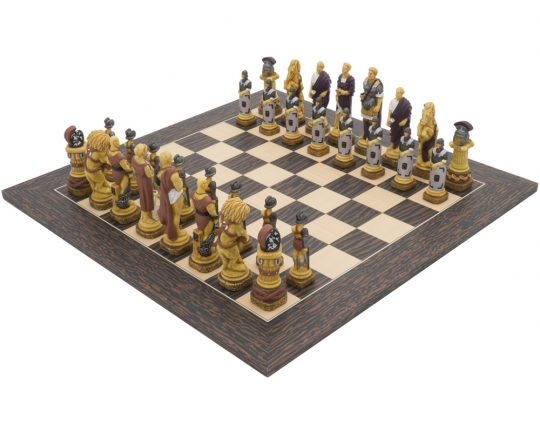 The Spartacus Tiger Ebony Chess Set