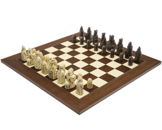 Palisander Berkeley Chess Isle of Lewis (2nd Edition) Chess Set