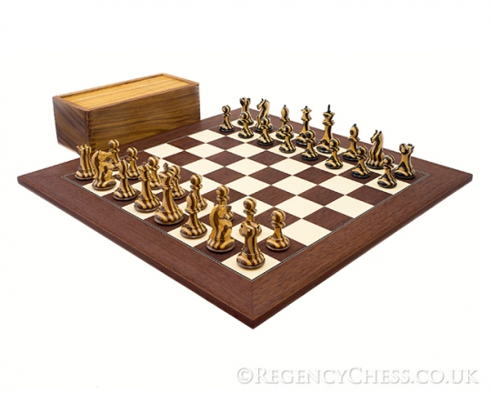 The Hancock Stripe Chess Set in Rosewood