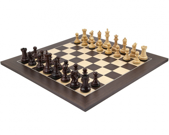 Rosewood and Wenge Sandringham Luxury Chess Set