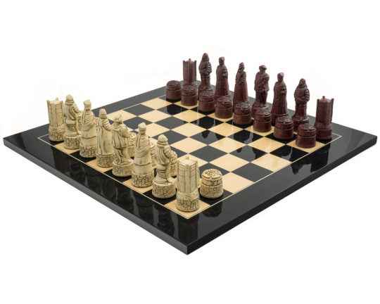 Black Berkeley Chess English Large Cardinal Chess Set