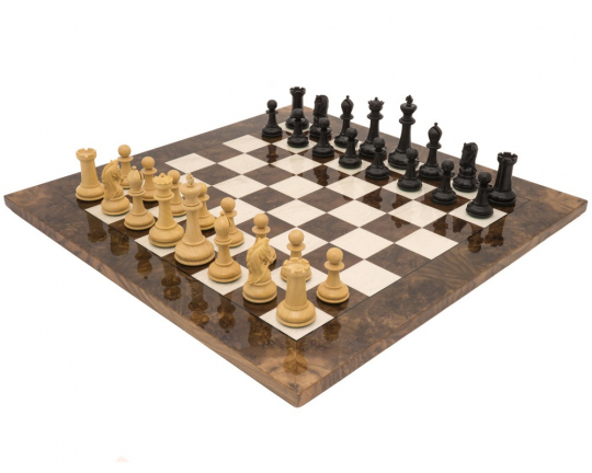 Ebony And Walnut Monarch Grand Luxury Chess Set