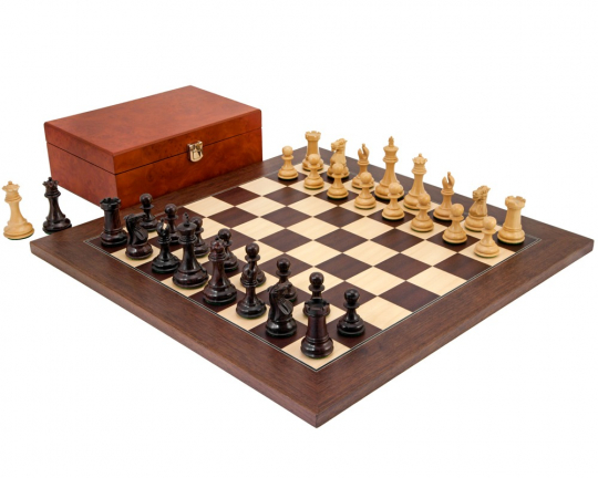 Rosewood and Montgoy Palisander Windsor Chess Set