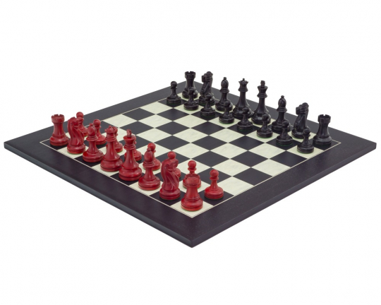 Red and Black Broadbase Chess Set