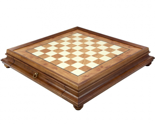 Italian Briarwood and Elm Chess Cabinet 23.6 InchesD100D99