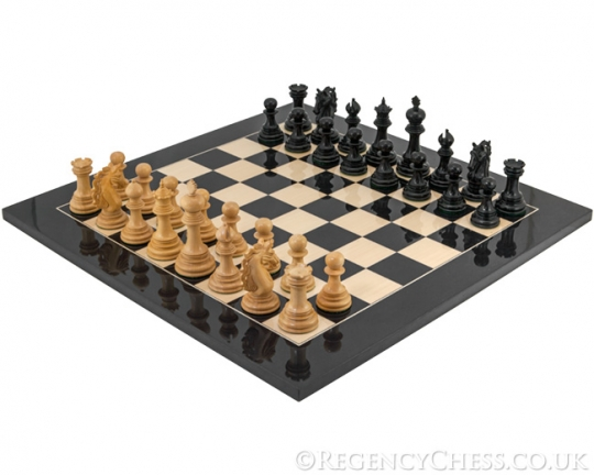 Ebony Constantine Series Chess Set