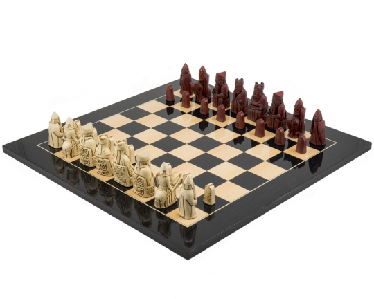 Black The Isle of Lewis Cardinal Chess Set