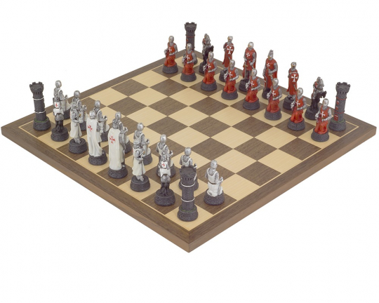 The Crusader Hand Painted themed Chess set by Italfama