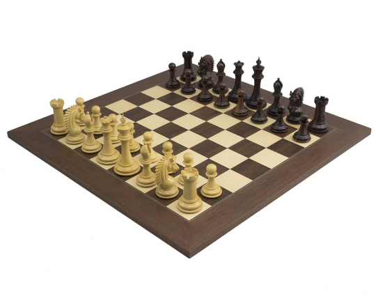Rosewood Palisander Sheffield Knight Chess Set