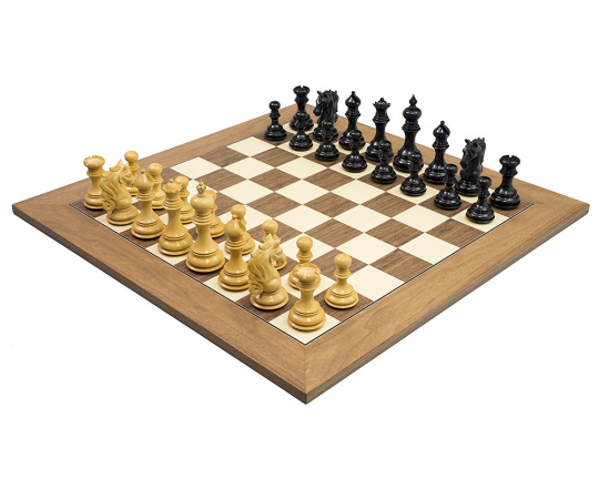 The Cavalry Luxury Chess Set in Ebony & Walnut