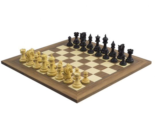 Kingsgate Ebony and Walnut Chess Set