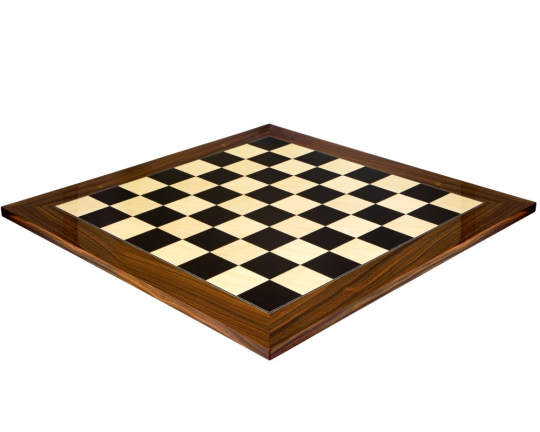 Luxury Chess Board in Black Anegre and Palisander 23.6 Inch