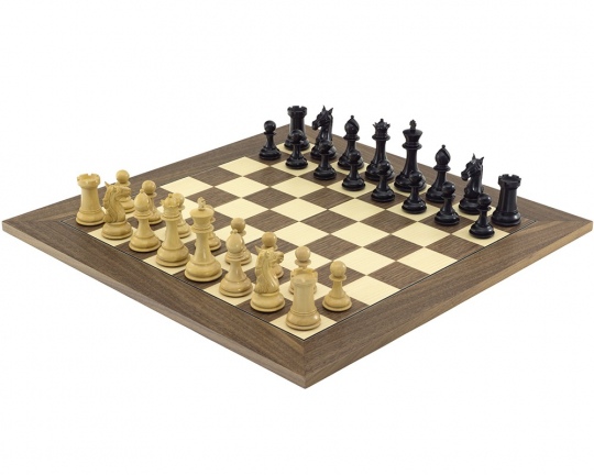 Columbus Ebony and Walnut Chess Set