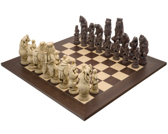 Berkeley Chess Reynard the Fox Russet and Palisander Large Chess Set
