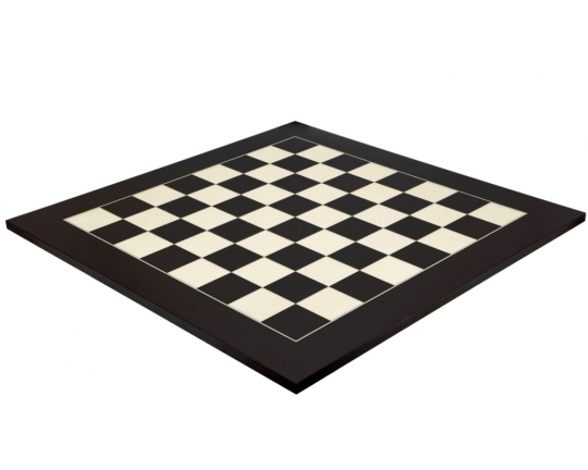 The Matt Black and Maple Luxury Chess Board 23.6 Inches