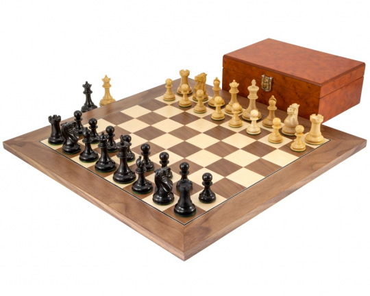 Walnut Highgrove Chess Set with Case