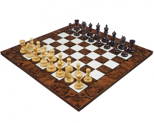 Rosewood and Walnut Grand Garvi Luxury Chess Set