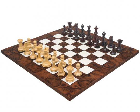 Bath Rosewood & Dark Walnut Large Chess Set