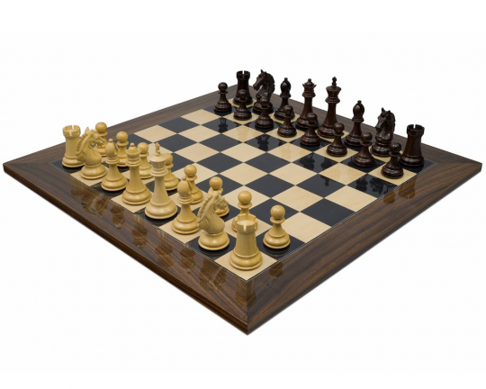 Luxury Rosewood The Stretford Knight Chess Set