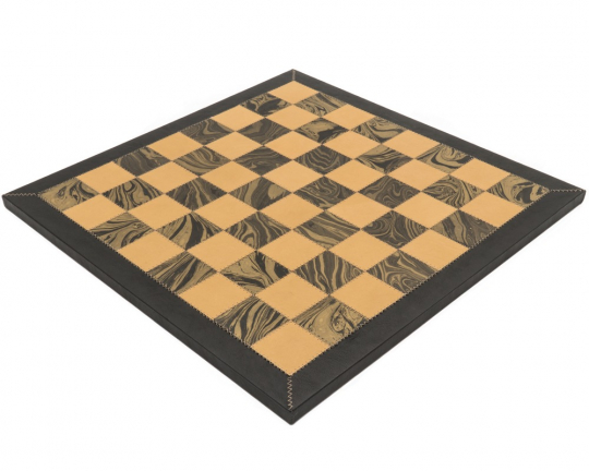 The Amalfi Hand Crafted 20.7 Inch Leather Chess Board by Italfama