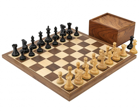 Compact Walnut Competition Chess Set