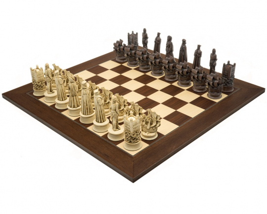 Palisander Berkeley Chess Elizabethan Large Russet Chess Set