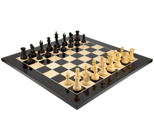 Sentinel Grand Ebony and Anegre Chess Set