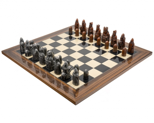 Metal and Palisander Berkeley Chess Isle of Lewis (2nd Edition) Chess Set