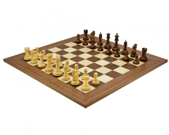 The Madrid Sheesham and Walnut Luxury Grand Chess Set