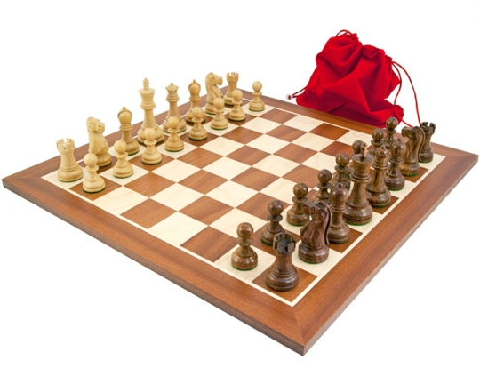 The Jacob Knight Chess Set in Sheesham and Mahogany