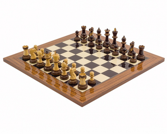 Burnt Parker Palisander Chess Set