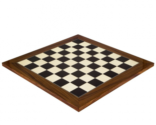 Deluxe Chess Board in Black Anegre and Palisander 19.7 Inches