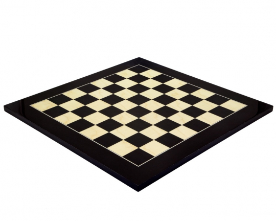 High Gloss Black Anegre and Maple Luxury Chess Board 19.7 Inch