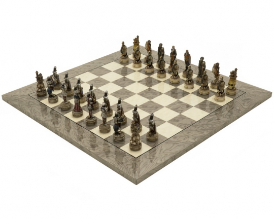 Zombie and Grey Ash Deluxe Chess Set
