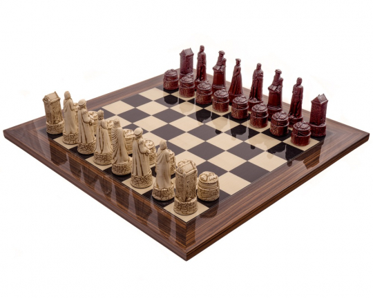 Palisander Scottish Berkeley Chess Russet Chess Set