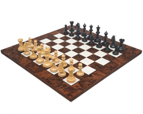 Bath Ebony & Dark Walnut Large Chess Set
